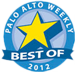 Palo Alto Weekly Best of 2012 Winner